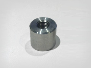 M12 x 1.5mm aluminium weld on boss